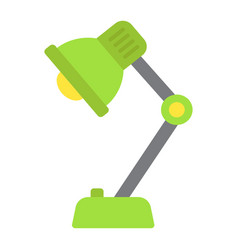 desk lamp flat icon bulb and light vector image