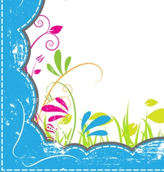 grunge frame with nature vector image vector image