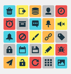 Interface icons set collection of painting close vector