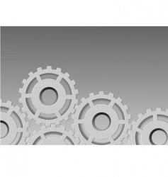 metallic background gear vector image vector image