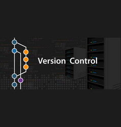 version control programming computer server coding vector image vector image