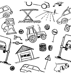 Automotive themes Repair vehicle Seamless vector image vector image