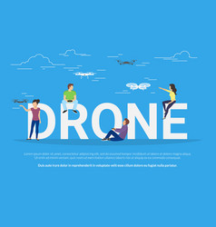 drone concept vector image vector image