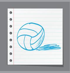 Sketch ball volleyball vector