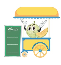 A cart stall and a fruit vector