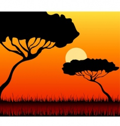 African landscape vector