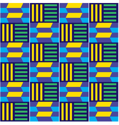 African tribal kente seamless pattern vector
