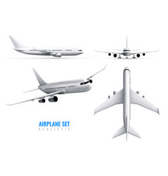 airplane realistic set vector image