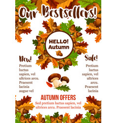 Autumn sale shopping fall seasonal poster vector