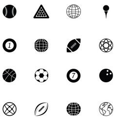 ball icon set vector image