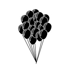 Balloons flying decoration national party vector