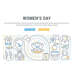 banner womens day vector image