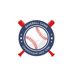 Baseball logo emblem vector