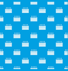 Beer wooden box pattern seamless blue vector
