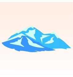 Blue mountains Symbolic image vector image