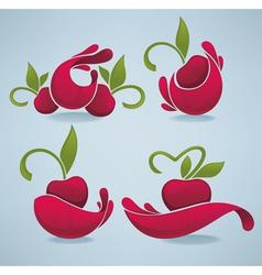 bright cherry juice vector image
