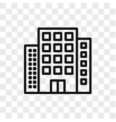 buildings icon simple buildings sign in modern vector image