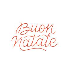 buon natale calligraphic line art typography vector image
