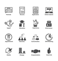Business employment icons set vector