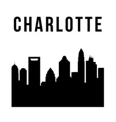 charlotte city simple silhouette vector image