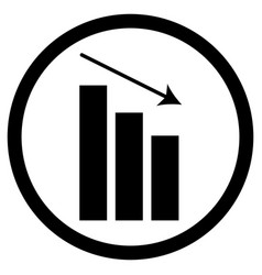 Chart down icon vector