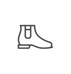chelsea boot line icon vector image