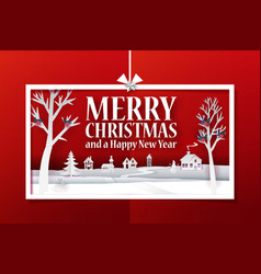 Christmas paper gift idea banner vector