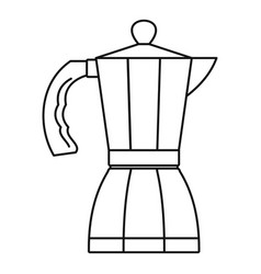 coffee pot icon outline style vector image