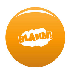 Comic boom blamm icon orange vector