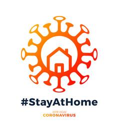 corona virus written in typography poster vector image