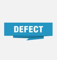Defect vector