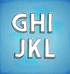 Doodle Style Hand Drawn Alphabet G-L vector image
