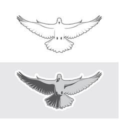 Dove birds logo vector