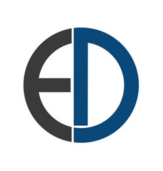 ed letters business logo vector image