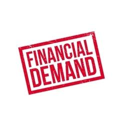 Financial Demand rubber stamp vector