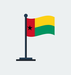 flag of guinea bissauflag stand vector image