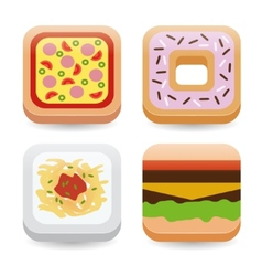 food application icons vector image