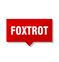 foxtrot red tag vector image