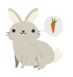 Funny cartoon rabbit mascot vector