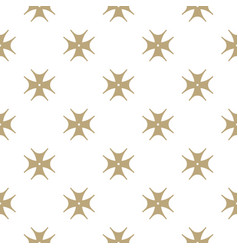 golden floral seamless pattern luxury abstract vector image