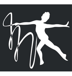 Gymnast silhouette black 03 vector