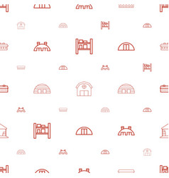 Hangar icons pattern seamless white background vector