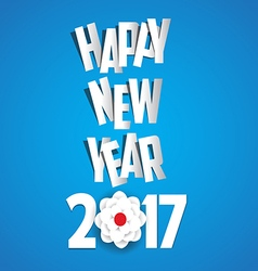 Happy new year 2017 blossom background vector