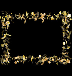 holiday realistic gold confetti flying vector image