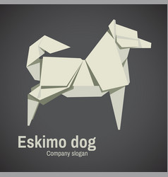 Husky Dog Origami Vector
