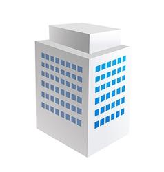 icon building vector image