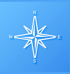 Icon weather rose of wind vector