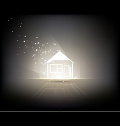 Illuminated Home vector image