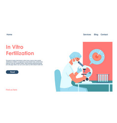 In vitro fertilization modern test tube baby vector