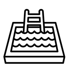 Indoor pool icon outline style vector